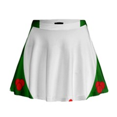Holiday Wreath Mini Flare Skirt