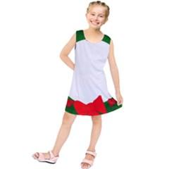 Holiday Wreath Kids  Tunic Dress