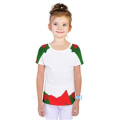 Holiday Wreath Kids  One Piece Tee