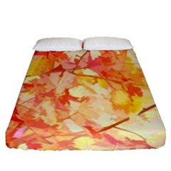 Monotype Art Pattern Leaves Colored Autumn Fitted Sheet (queen Size)