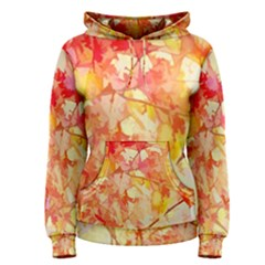 Monotype Art Pattern Leaves Colored Autumn Women s Pullover Hoodie