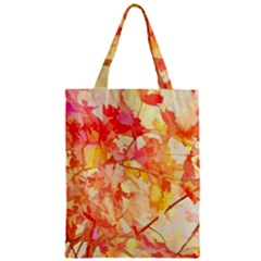 Monotype Art Pattern Leaves Colored Autumn Zipper Classic Tote Bag