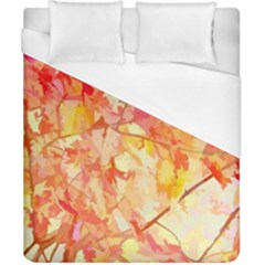 Monotype Art Pattern Leaves Colored Autumn Duvet Cover (california King Size)