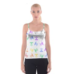 Rainbow Clown Pattern Spaghetti Strap Top