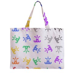 Rainbow Clown Pattern Zipper Mini Tote Bag