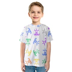 Rainbow Clown Pattern Kids  Sport Mesh Tee