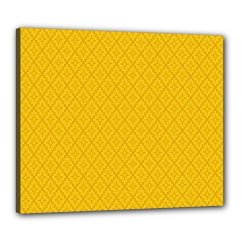 Yellow Flower Canvas 24  X 20  by AnjaniArt