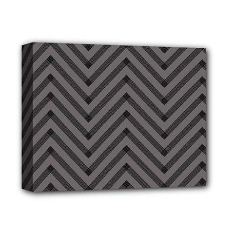 Background Gray Zig Zag Chevron Deluxe Canvas 14  X 11  by AnjaniArt