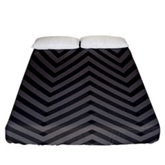 Background Gray Zig Zag Chevron Fitted Sheet (california King Size) by AnjaniArt