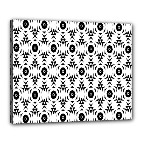 Black White Flower Canvas 20  x 16  by AnjaniArt