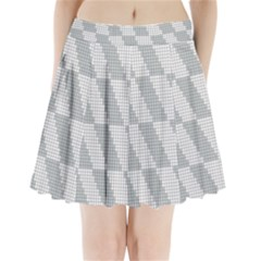Box Shape Pleated Mini Skirt
