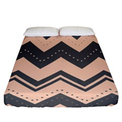 Chevron Ideas Gray Colors Combination Fitted Sheet (california King Size)