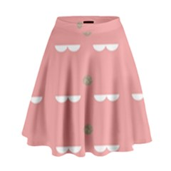 Cool Rose High Waist Skirt by AnjaniArt