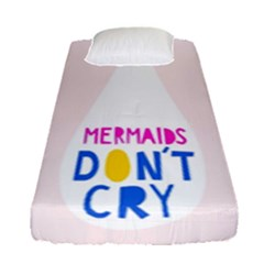Dont Crt Fun Mermaids Pink Fitted Sheet (single Size)