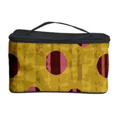 Dot Mustard Cosmetic Storage Case by AnjaniArt