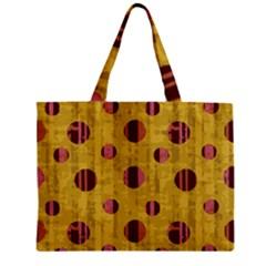 Dot Mustard Zipper Mini Tote Bag by AnjaniArt
