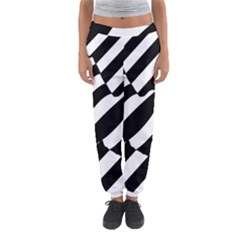 Flaying Bird Black White Women s Jogger Sweatpants by AnjaniArt