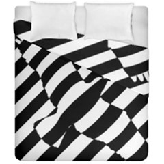 Flaying Bird Black White Duvet Cover Double Side (california King Size)
