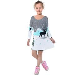 Rocky Mountain High Colorado Kids  Long Sleeve Velvet Dress