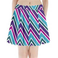 Fetching Chevron White Blue Purple Green Colors Combinations Cream Pink Pretty Peach Gray Glitter Re Pleated Mini Skirt