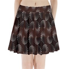 Free Dot Spiral Seamless Pleated Mini Skirt