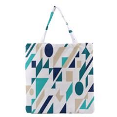 Geometric Grocery Tote Bag by AnjaniArt