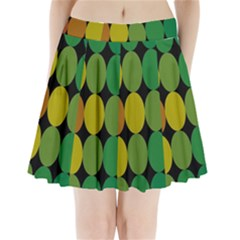 Geometry Round Colorful Pleated Mini Skirt