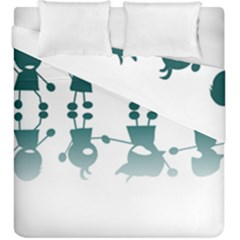 Happy Kids Duvet Cover Double Side (king Size) by AnjaniArt