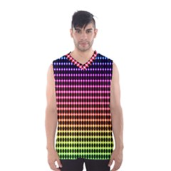 Halftone Pattern Rainbow Men s Basketball Tank Top by AnjaniArt