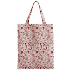 Heart Surface Kiss Flower Bear Love Valentine Day Zipper Classic Tote Bag by AnjaniArt