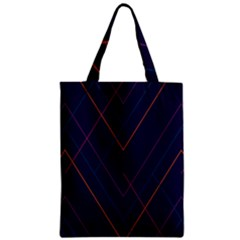 Line Color Zipper Classic Tote Bag by AnjaniArt