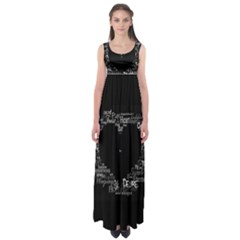 Love Valentine Day Empire Waist Maxi Dress by AnjaniArt