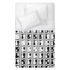 Line Black Duvet Cover (single Size) by AnjaniArt