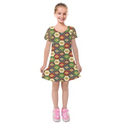 Ilus Origami Kids  Short Sleeve Velvet Dress by AnjaniArt