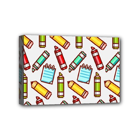 Seamless Pixel Art Pattern Mini Canvas 6  X 4  by Amaryn4rt
