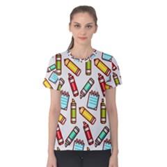Seamless Pixel Art Pattern Women s Cotton Tee by Amaryn4rt