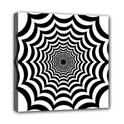 Spider Web Hypnotic Mini Canvas 8  X 8