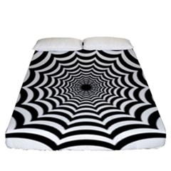 Spider Web Hypnotic Fitted Sheet (california King Size) by Amaryn4rt