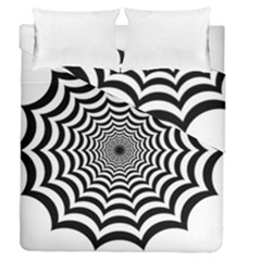 Spider Web Hypnotic Duvet Cover Double Side (queen Size) by Amaryn4rt