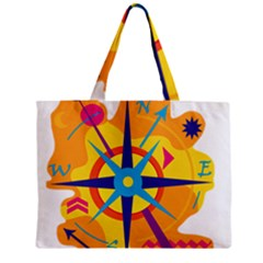 Orange Navigation Mini Tote Bag by Valentinaart
