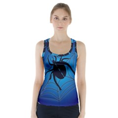 Spider On Web Racer Back Sports Top by Amaryn4rt