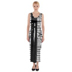 Whitney Museum Of American Art Fitted Maxi Dress by Amaryn4rt