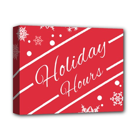 Winter Holiday Hours Deluxe Canvas 14  X 11