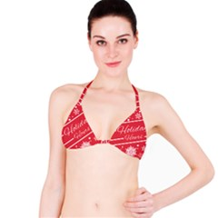 Winter Holiday Hours Bikini Top