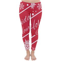Winter Holiday Hours Classic Winter Leggings by Amaryn4rt