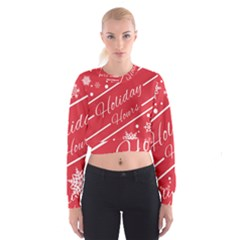 Winter Holiday Hours Women s Cropped Sweatshirt by Amaryn4rt