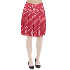 Winter Holiday Hours Pleated Skirt by Amaryn4rt