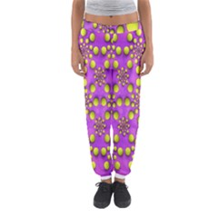 Purple Optical Illusion Wallpaper Women s Jogger Sweatpants by AnjaniArt