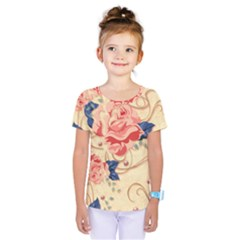 Beautiful Pink Roses Kids  One Piece Tee by Brittlevirginclothing