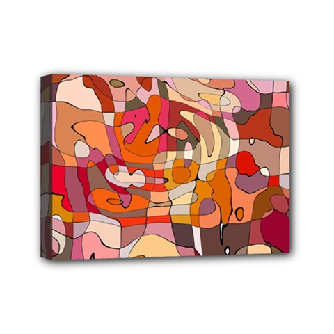 Abstract Abstraction Pattern Moder Mini Canvas 7  X 5  by Amaryn4rt